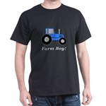 Farm Boy Blue Tractor Dark T-Shirt