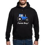 Farm Boy Blue Tractor Hoodie (dark)