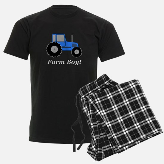Farm Boy Blue Tractor Pajamas