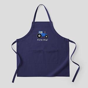 Farm Boy Blue Tractor Apron (dark)