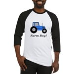 Farm Boy Blue Tractor Baseball Jersey