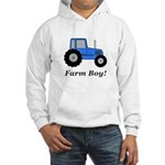 Farm Boy Blue Tractor Hooded Sweatshirt