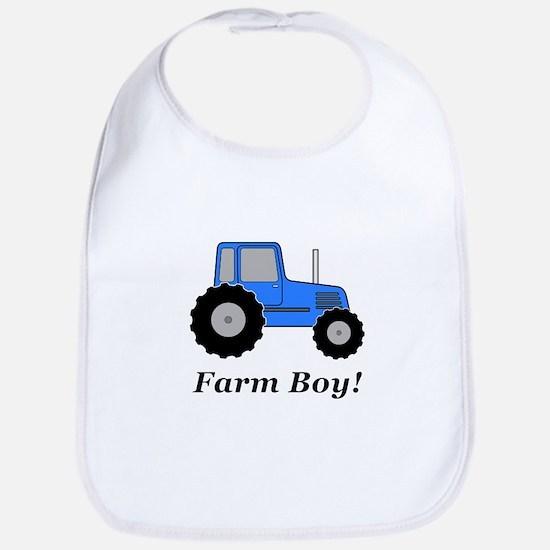 Farm Boy Blue Tractor Bib