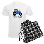 Farm Boy Blue Tractor Men's Light Pajamas