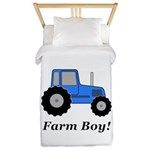Farm Boy Blue Tractor Twin Duvet