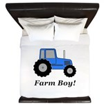 Farm Boy Blue Tractor King Duvet