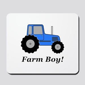 Farm Boy Blue Tractor Mousepad