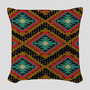 Aztec Tribal Pattern. Woven Throw Pillow