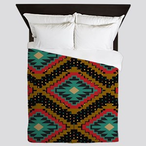 Aztec Tribal Pattern. Queen Duvet