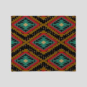Aztec Tribal Pattern. Throw Blanket