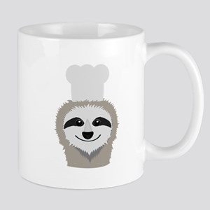 sloth chef with cook hat Mugs