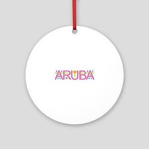 Aruba Round Ornament