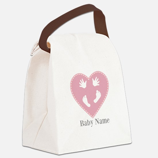 Add Baby's Name Canvas Lunch Bag