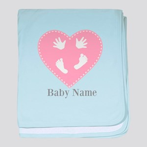 Add Baby's Name baby blanket