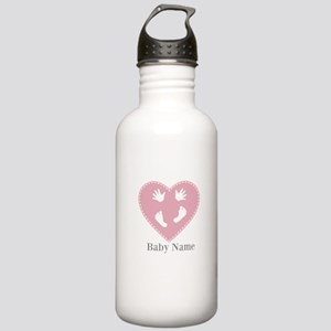 Add Baby's Name Stainless Water Bottle 1.0L