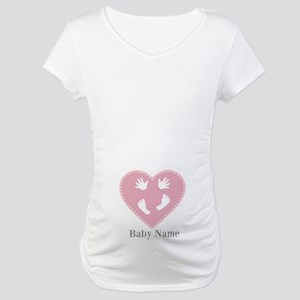 Add Baby's Name Maternity T-Shirt
