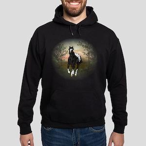 Running Black Appaloosa Horse Sweatshirt