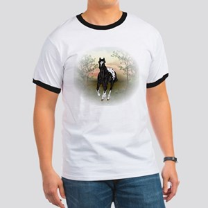 Running Black Appaloosa Horse T-Shirt