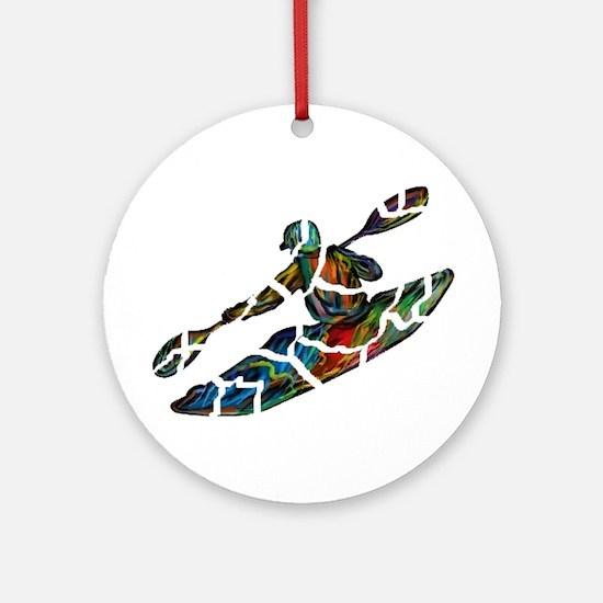KAYAK Round Ornament