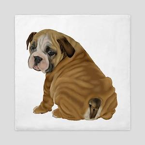 English Bulldog Puppy Queen Duvet