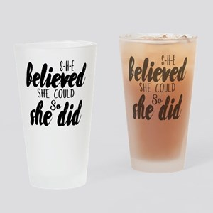 She believed Drinking Glass