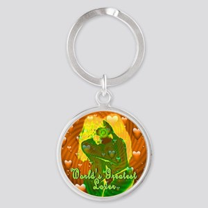 World's Greatest Lover Kiss of the Round Keychain