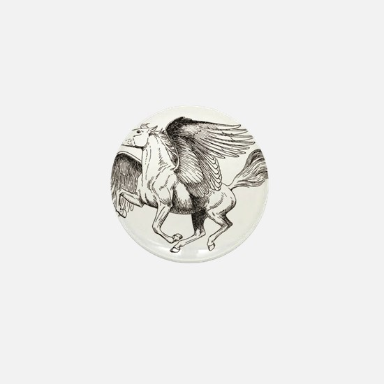 flying horse baby Mini Button