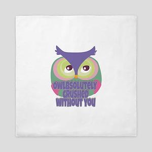 Missing you.. Owl Queen Duvet