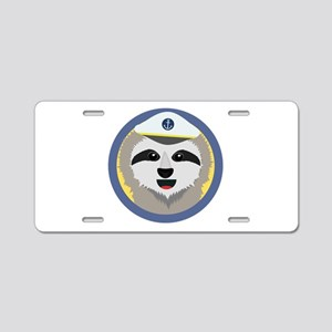 Slot captain with hat Aluminum License Plate