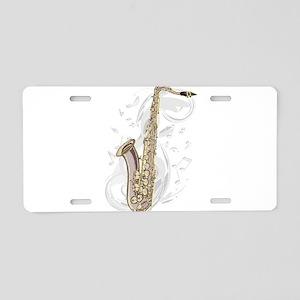 Saxephone Aluminum License Plate