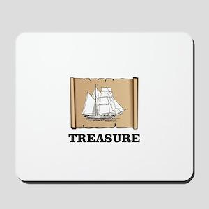 treasure boat on paper Mousepad