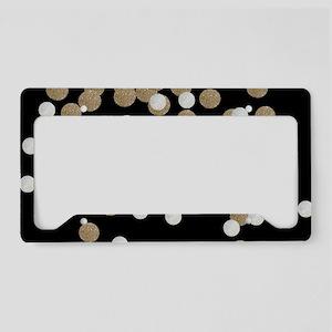 chic glitter gold confetti License Plate Holder