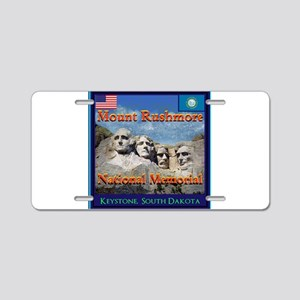 Mount Rushmore Aluminum License Plate