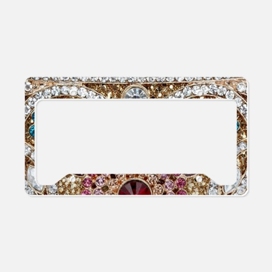 bohemian turquoise red rhines License Plate Holder