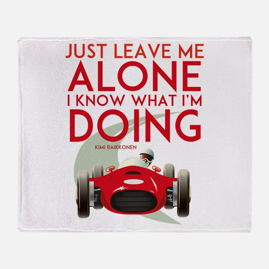 Formula 1 Quote Throw Blanket