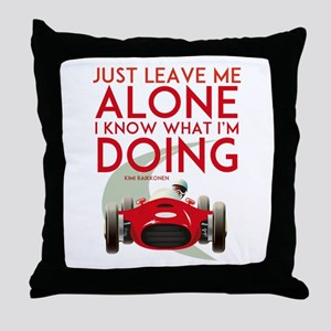 Formula 1 Quote Throw Pillow