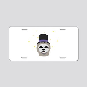 Sloth Wizard with head Aluminum License Plate