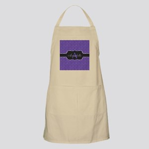 Purple Mermaid Scale Monogram Apron
