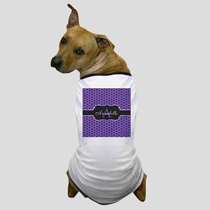 Purple Mermaid Scale Monogram Dog T-Shirt