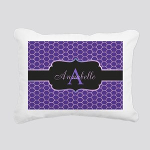 Purple Mermaid Scale Monogram Rectangular Canvas P
