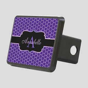 Purple Mermaid Scale Monogram Hitch Cover