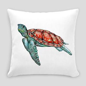 Wild Turtle Everyday Pillow