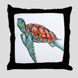 Wild Turtle Throw Pillow
