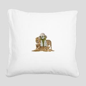 Safari Pickle Square Canvas Pillow