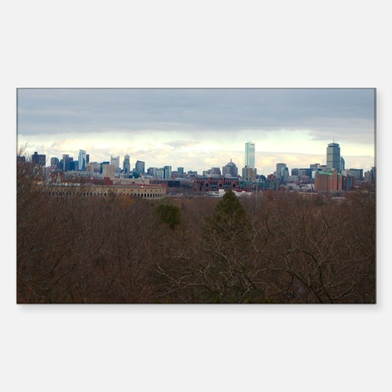 Boston Skyline Sticker (Rectangle)