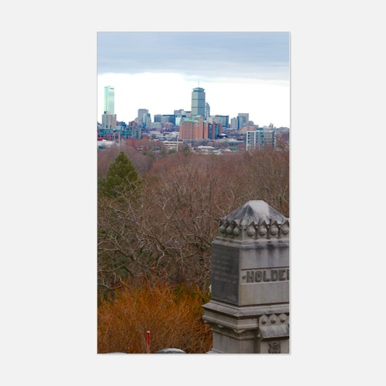 Boston Skyine Sticker (Rectangle)