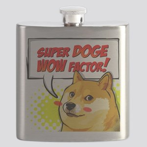 Doge Super Doge Meme WOW Flask
