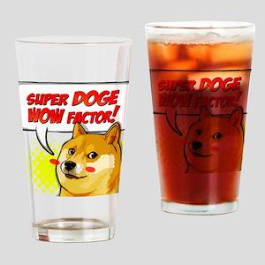 Doge Super Doge Meme WOW Drinking Glass