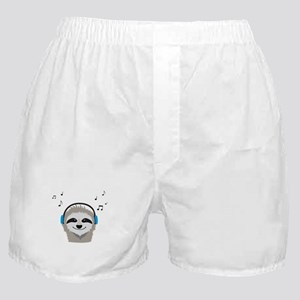 Sloth with headphones Boxer Shorts