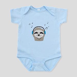 Sloth with headphones Body Suit